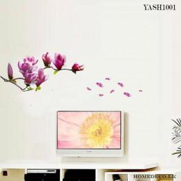 Purple Flower wall Sticker - YASH1001