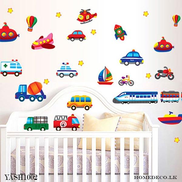 Kids Vehicles Wall Sticker - YASH1002