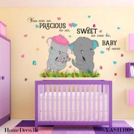Dumbo Elephant Family Sticker - YASH1008
