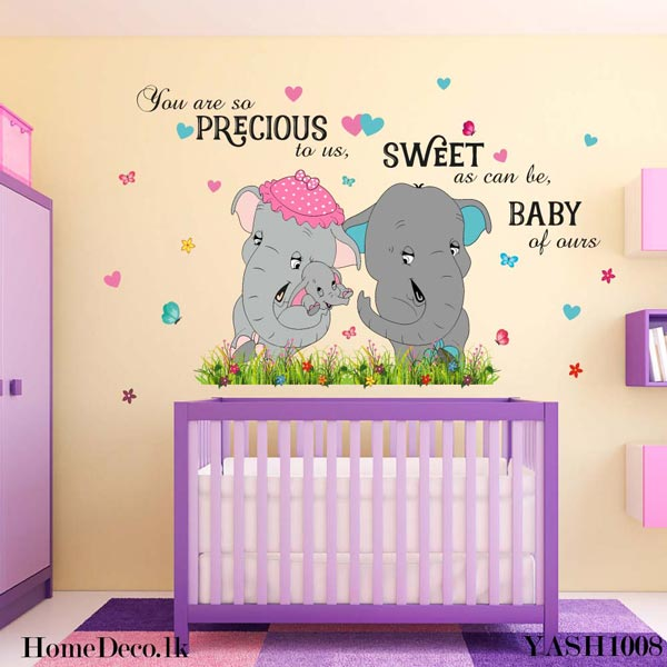 Dumbo Elephant Family Sticker - YASH1008