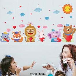 Kids Animal Set Wall Sticker - YASH1084