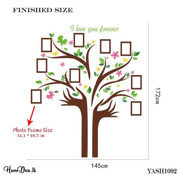 Photo Frame Tree Wall Sticker - YASH1092