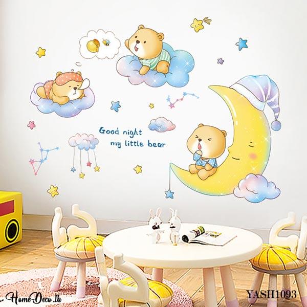 Baby Bears Play Wall Sticker - YASH1093