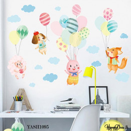 Play with Balloon Wall Sticker - YASH1095