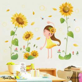 Little Girl Kids Wall Sticker - YASH1097