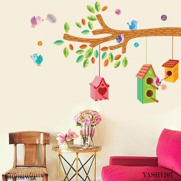 Kids Bird Cages Wall Sticker - YASH1107