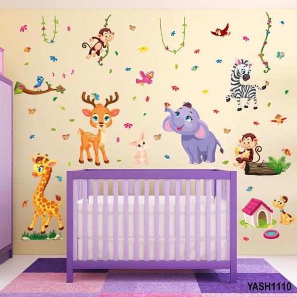 Zoo Animal Baby Wall Sticker - YASH1110