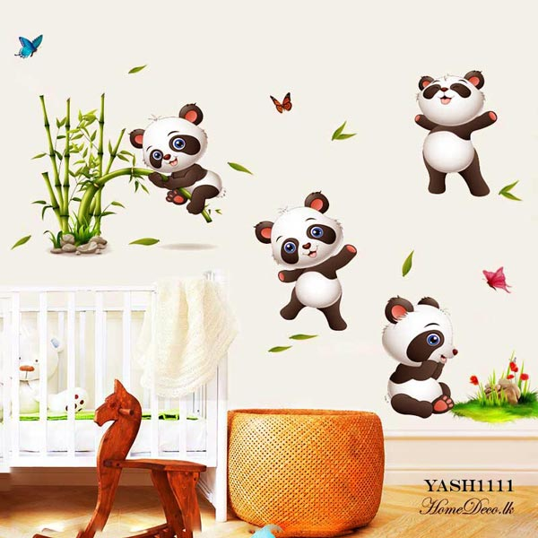 Cute Baby Panda Wall Sticker - YASH1111