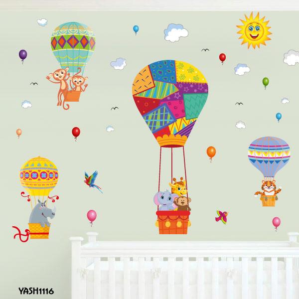 Hot Air Balloon Wall Sticker - YASH1116