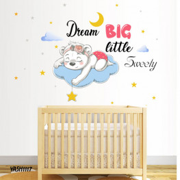Dream Big Baby Girl Sticker - YASH1117