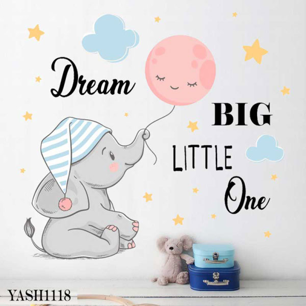 Dream Big Baby Wall Sticker - YASH1118
