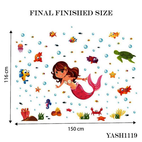 Mermaid Kids Wall Sticker - YASH1119
