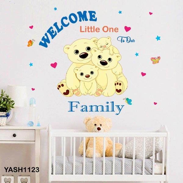 Bear Family Baby Wall Sticker - YASH1123