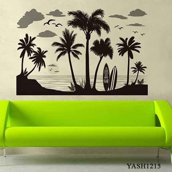 Beach Scenery Wall Sticker - YASH1215