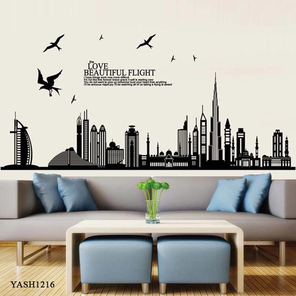 Dubai City Building Wall Sticker - YASH1216