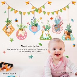Baby Animal Hanging Wall Sticker - YASH1219
