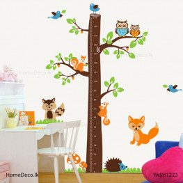 Animal Height Measure Sticker - YASH1223