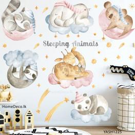 Sleeping Animals Wall Sticker - YASH1225