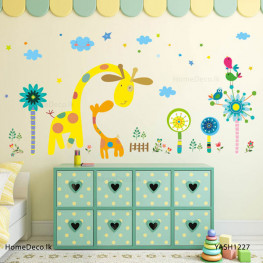 Giraffe Family Wall Sticker - YASH1227