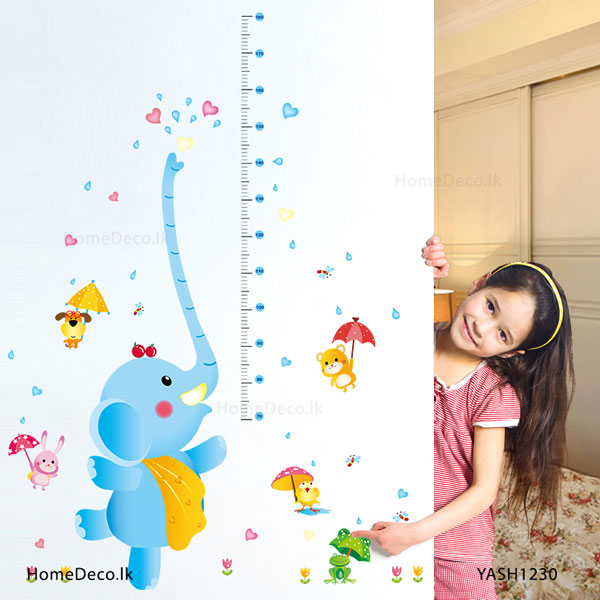 Elephant Height Measure Sticker - YASH1230
