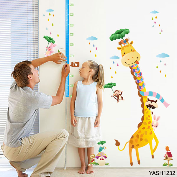 Giraffe Height Measure Wall Sticker - YASH1232