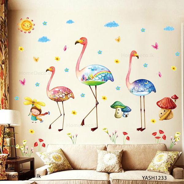 Flamingo Wall Sticker - YASH1233