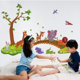 Baby Animal Friends Wall Sticker - YASH214