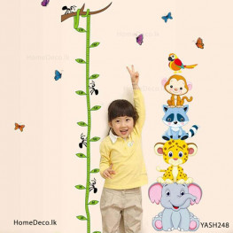 Zoo Animal Height Measure Sticker - YASH248