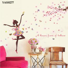 Pink Ballet Dancer Wall Sticker - YASH277