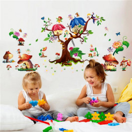 Fairy Tree House Wall Sticker - YASH653