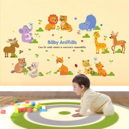 Cute Baby Animals Wall Sticker - YASH654
