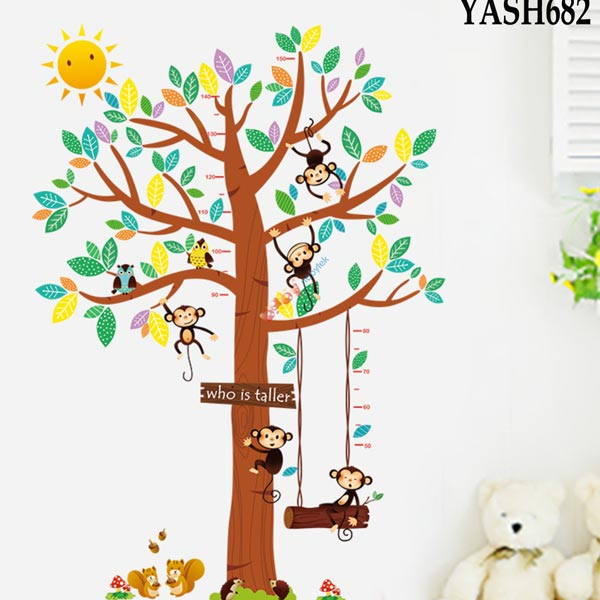 Tree Height Measure Wall Sticker - YASH682