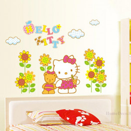 Hello Kitty Kids Wall Sticker - YASH694