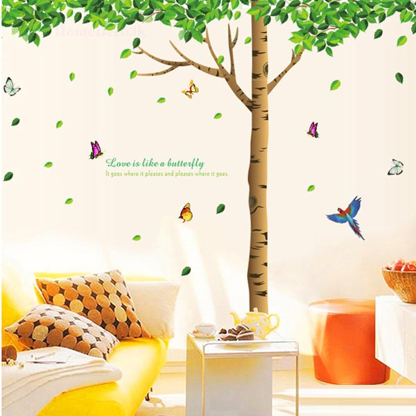 Tree and Leaves Wall Sticker - YASH698