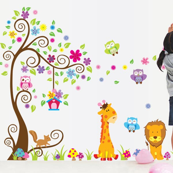 Colorful Tree Wall Sticker - YASH703