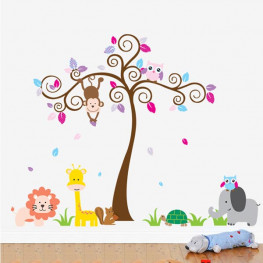 Tree and Leaves Wall Sticker - YASH706