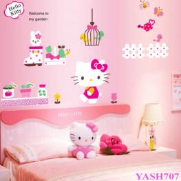 Hello Kitty Kids Wall Sticker - YASH707