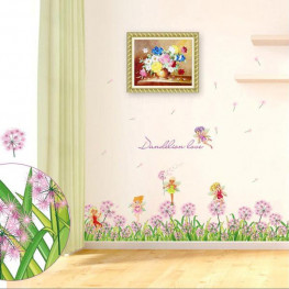 Flowers and Fairy Wall Sticker - YASH710