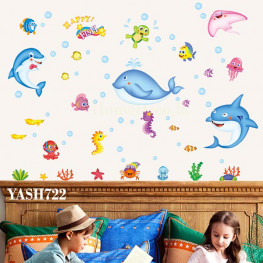 Sea Animal Kids Wall Sticker - YASH722