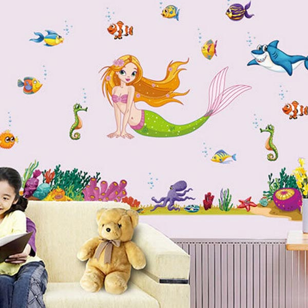 Mermaid Kids Wall Sticker - YASH723