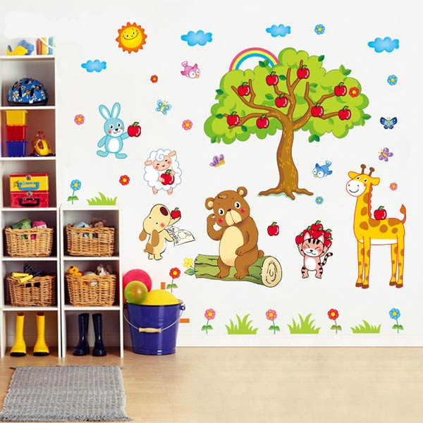 Kids Apple Tree Wall Sticker - YASH729
