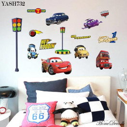 Macqueen Cars Wall Sticker - YASH732