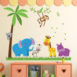Animal Friends Kids Wall Sticker - YASH735