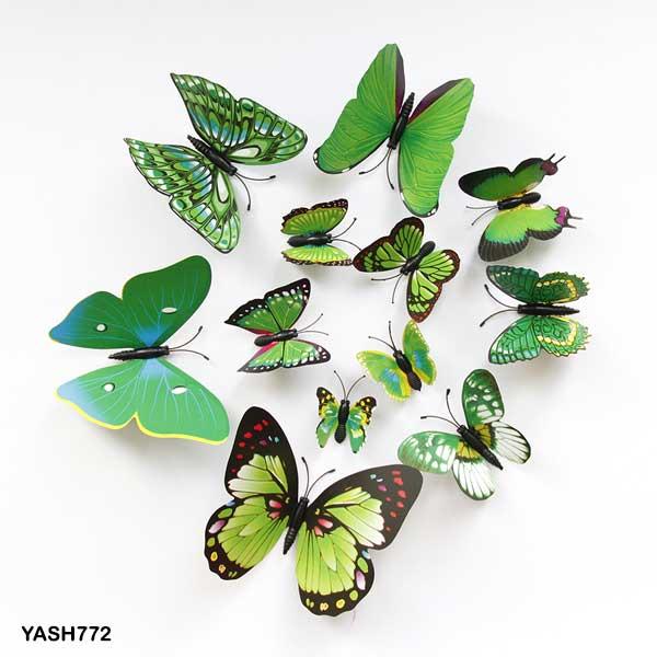 Green 3D PVC Butterfly Pack - YASH772