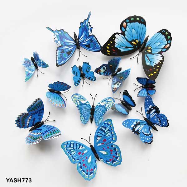 Blue 3D PVC Butterfly Pack - YASH773