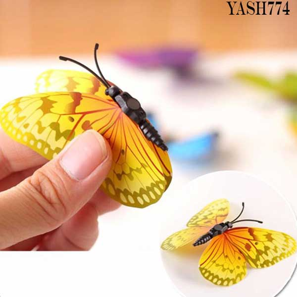 Yellow 3D PVC Butterfly Pack - YASH774