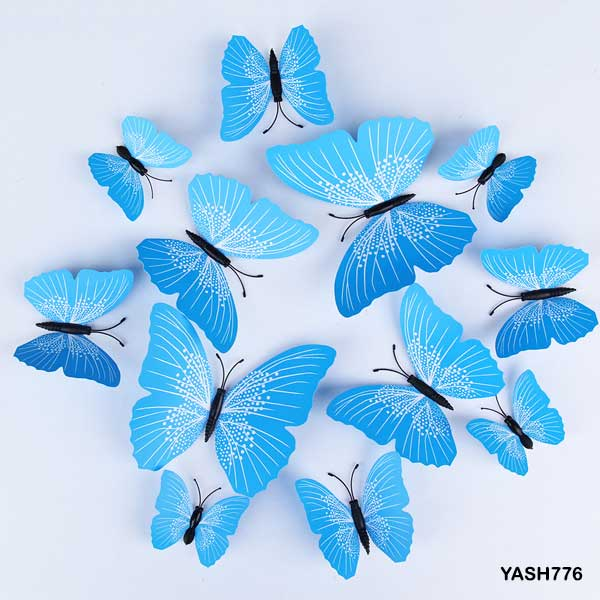 Blue 3D PVC Butterfly Pack - YASH776