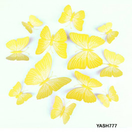 Yellow 3D PVC Butterfly Pack - YASH777