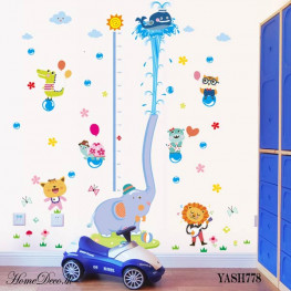 Elephant Height Measure Sticker - YASH778