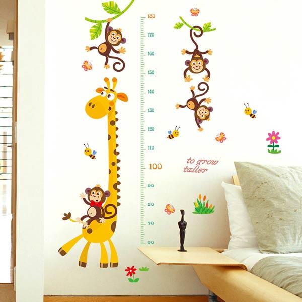 Giraffe Height Measure Sticker - YASH780